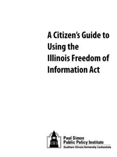 A Citizen's Guide to Using the Illinois Freedom of ...