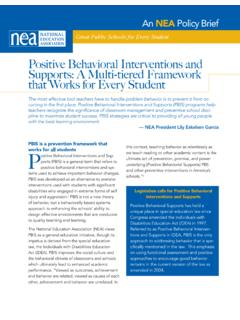 Positive Behavioral Interventions and Supports: A Multi ...