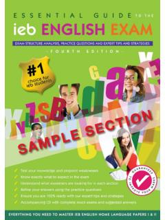 SAMPLE SECTION - The English Experience