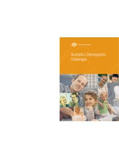 Australia's demographic challenges - Treasury