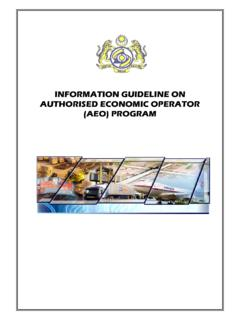 Information Guideline on AEO Programme - …