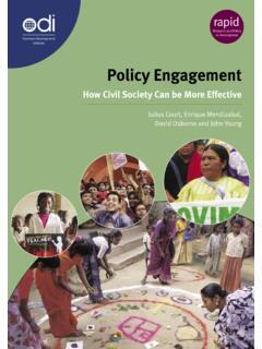 Policy Engagement: How civil society can be more effective ...