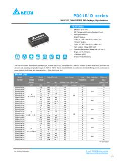 1W DC/DC CONVERTER, SIP-Package, High Isolation