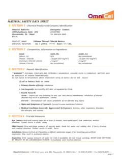 MATERIAL SAFETY DATA SHEET SECTION 1 - …