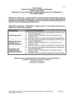 1 of 4 State of Florida Board of Cosmetology Form …