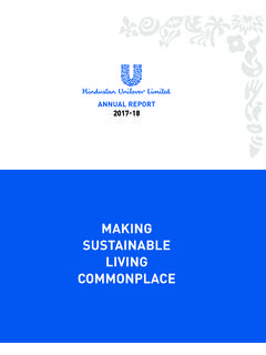 MAKING SUSTAINABLE LIVING COMMONPLACE - hul.co.in