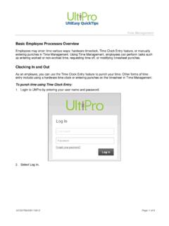Basic Employee Processes - UltiPro Training - CORE