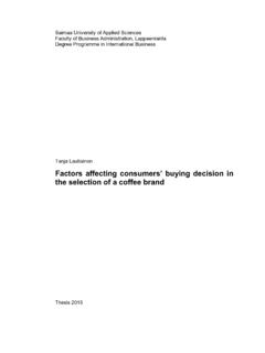 Factors affecting consumers' buying decision in the ...