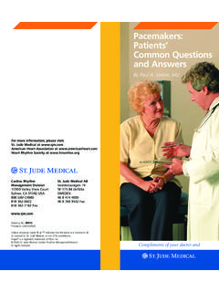 Pacemakers: Patients' Common Questions and …