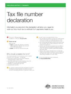 Tax file number declaration - ato.gov.au