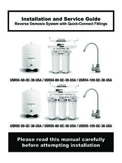 Installation and Service Guide - H2O Distributors