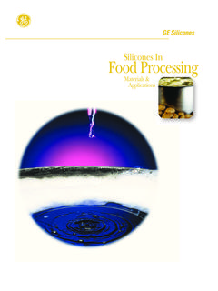 Silicones In Food Processing - DC Products