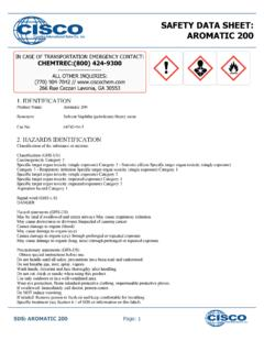 SAFETY DATA SHEET: AROMATIC 200 - …
