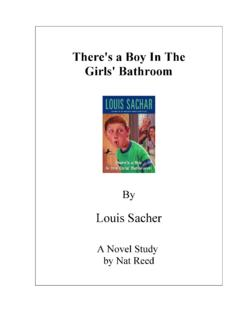 There's a Boy In The Girls' Bathroom - Novel Studies