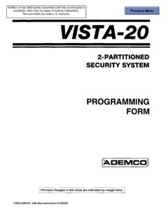 VISTA-20 Programming Form - info-techs.com