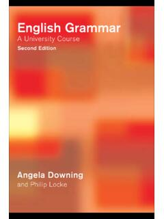 English Grammar : A University Course