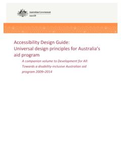 Accessibility Design Guide: Universal design principles ...