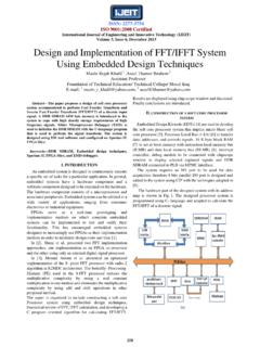Design and Implementation of FFT/IFFT System Using ...
