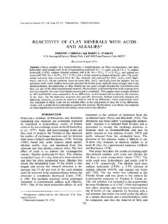 REACTIVITY OF CLAY MINERALS WITH ACIDS AND …