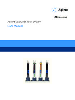 Gas Clean Filter System User Guide - Agilent