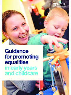 Guidance for promoting in early years and childcare