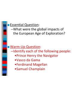 What were the global impacts of the European Age of ...
