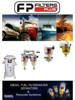 DIESEL FUEL FILTER/WATER SEPARATORS - Filters Plus