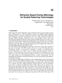 Diffraction Based Overlay Metrology for Double Patterning ...