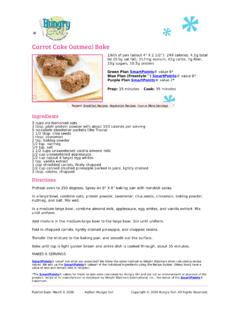 Carrot Cake Oatmeal Bake Recipe - Hungry Girl