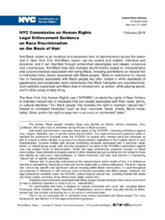 NYC Commission on Human Rights Legal Enforcement …