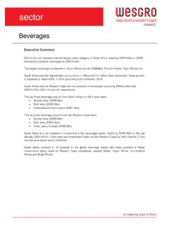 Beverages - Wesgro.co.za