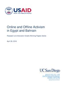 Online and Offline Activism in Egypt and Bahrain