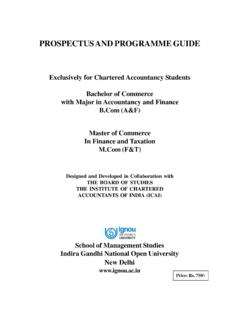 PROSPECTUS AND PROGRAMME GUIDE - IGNOU