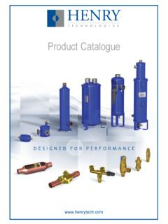 Product Catalogue - Henry Group
