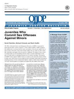 Juveniles Who Commit Sex Offenses Against Minors