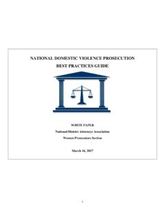 NATIONAL DOMESTIC VIOLENCE PROSECUTION BEST …