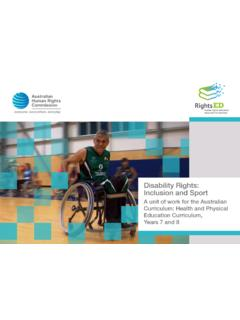 Disability Rights: Inclusion and Sport