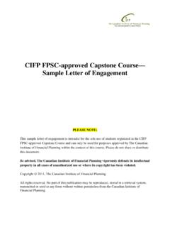 CIFP FPSC-approved Capstone Course Sample …