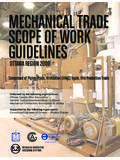 Trade Scopes of Work Mechanical - TaplenConstruction