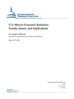 U.S.-Mexico Economic Relations: Trends, Issues, …