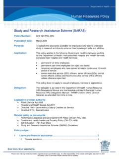 Study and Research Assistance Scheme (SARAS) HR Policy …