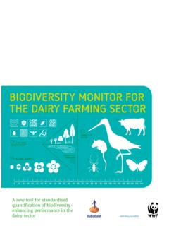 BIODIVERSITY MONITOR FOR THE DAIRY FARMING SECTOR