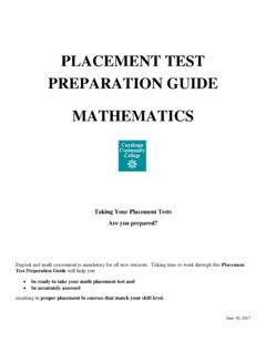 PLACEMENT TEST PREPARATION GUIDE …
