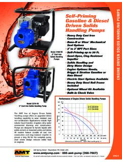 ENGINE DRIVEN SOLIDS HANDLING PUMPS