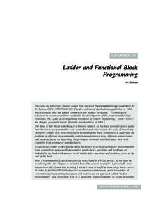 Ladder and Functional Block Programming - Elsevier