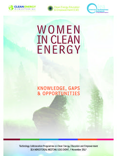 WOMEN IN CLEAN ENERGY - International Energy …