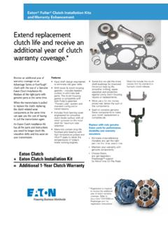 Extend replacement clutch life and receive an …