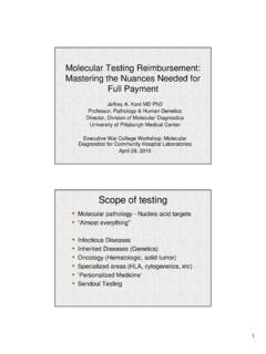 Molecular Testing Reimbursement: Mastering the Nuances ...