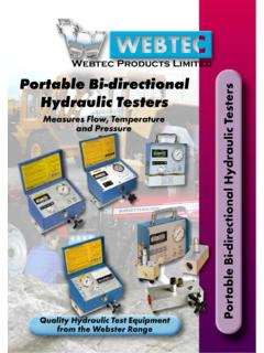 Webtec Products Limited Portable Bi-directional Hydraulic ...
