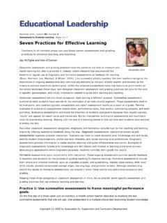 63 3 Assessment to Promote Learning Pages 10-17 Seven ...